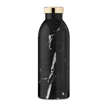 義大利 24Bottles 不鏽鋼雙層保溫瓶 500ml (黑雲石)