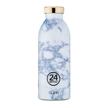 義大利 24Bottles 不鏽鋼雙層保溫瓶 500ml (藍紋大理石)