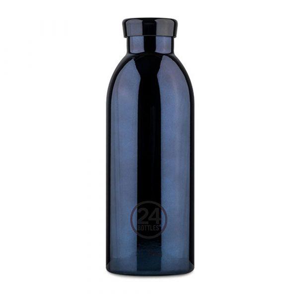 義大利 24Bottles 不鏽鋼雙層保溫瓶 500ml (黑金)