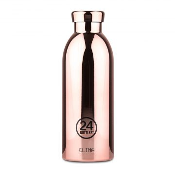 義大利 24Bottles 不鏽鋼雙層保溫瓶 500ml (玫瑰金)