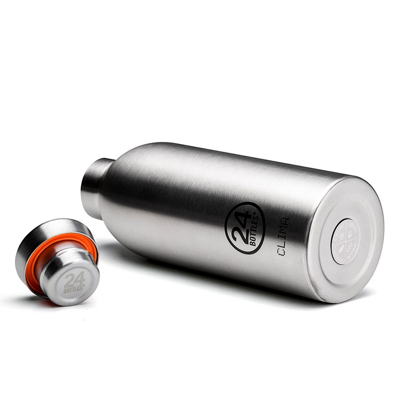義大利 24Bottles 不鏽鋼雙層保溫瓶 850ml (不鏽鋼)
