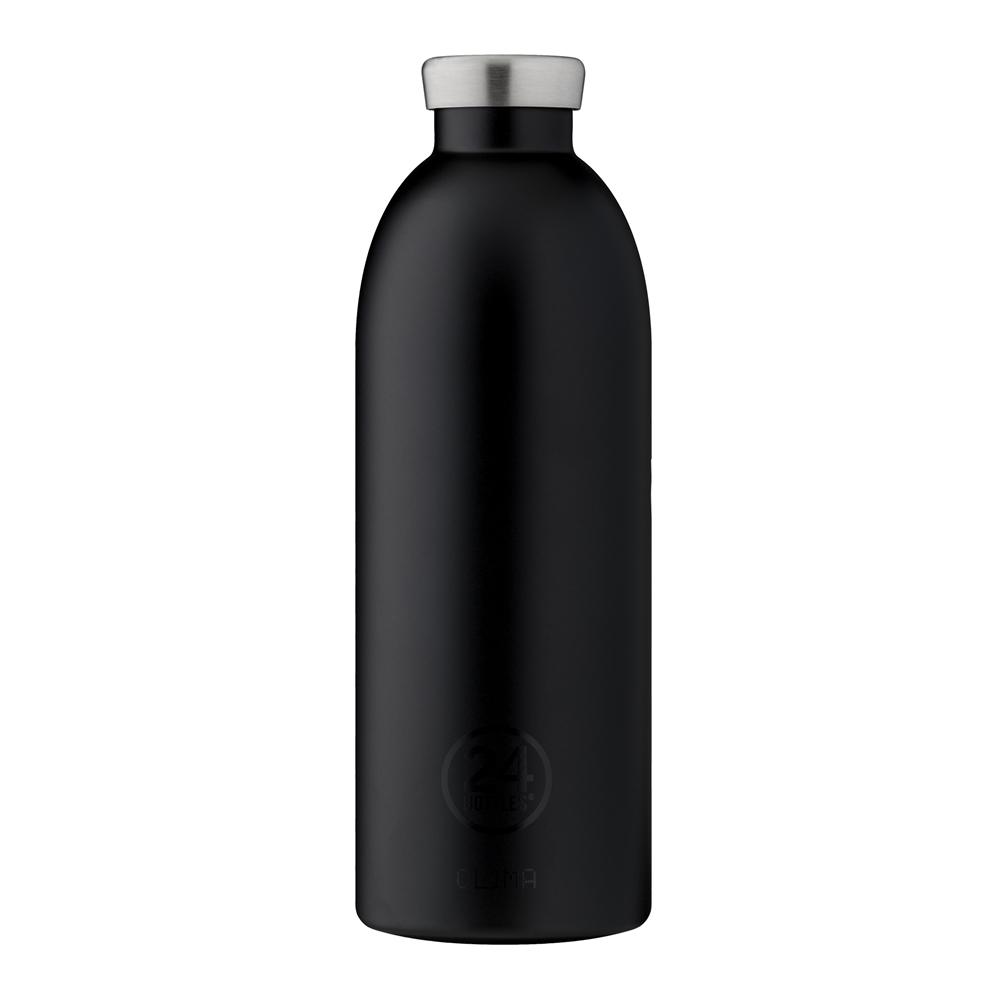 義大利 24Bottles 不鏽鋼雙層保溫瓶 850ml (紳士黑)