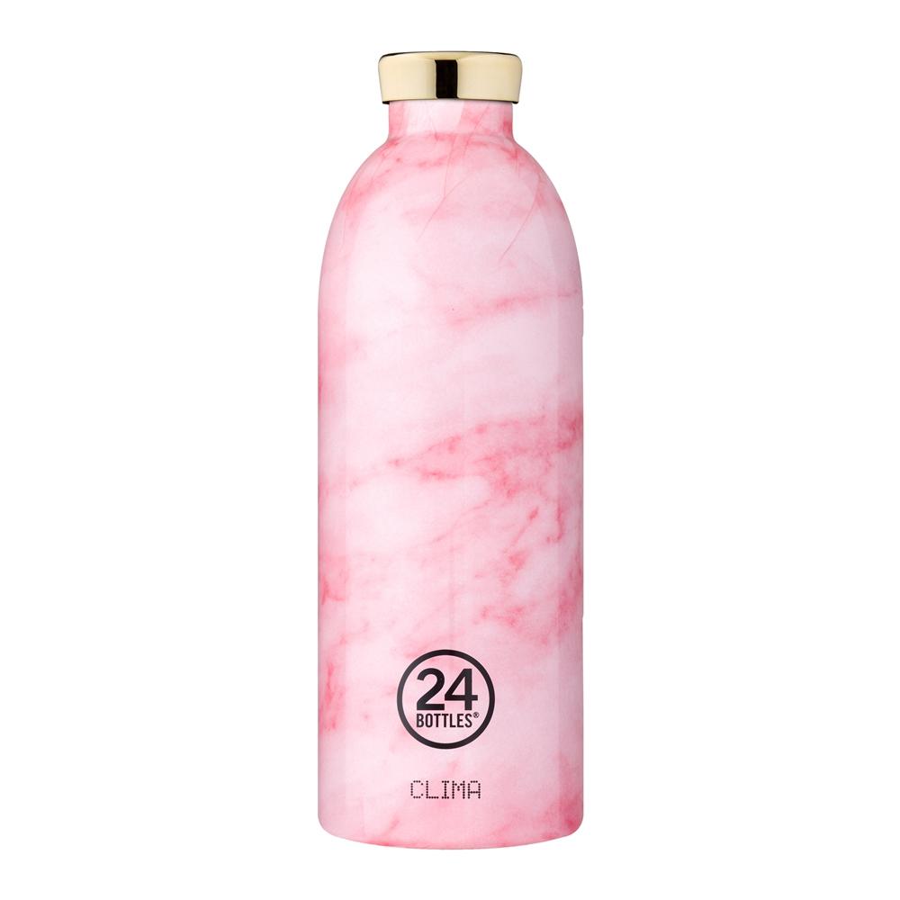 義大利 24Bottles 不鏽鋼雙層保溫瓶 850ml (粉紅大理石)