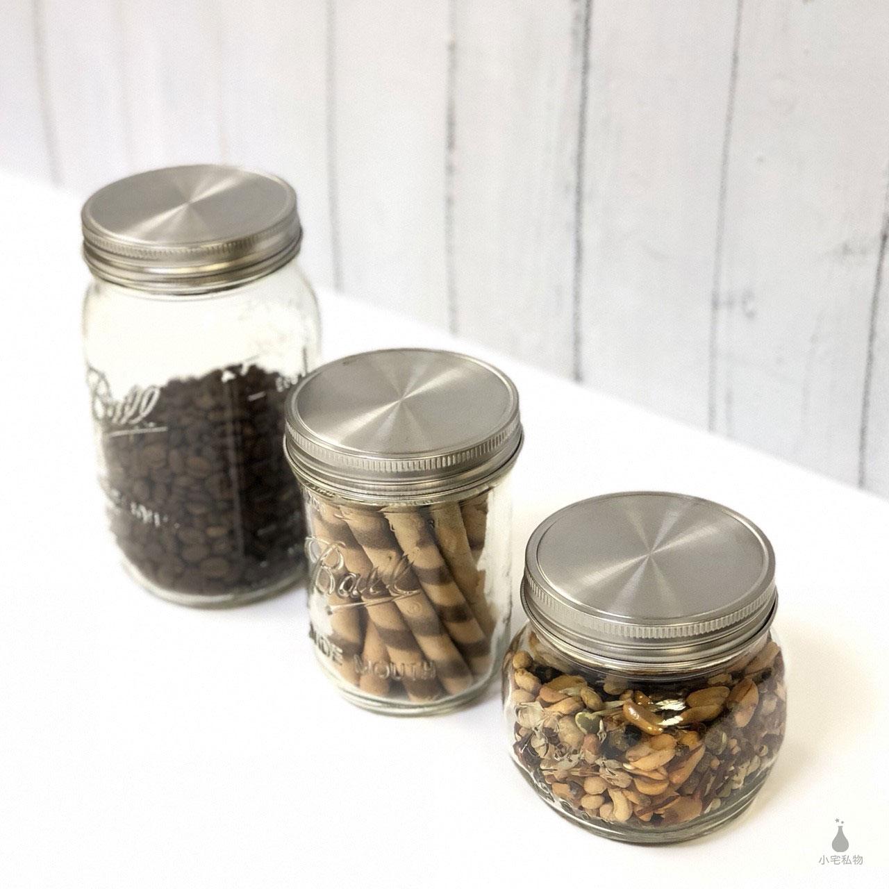 Ball 梅森罐+不鏽鋼密封蓋組 (窄口/寬口)
