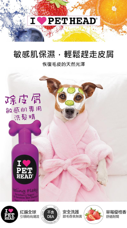 英國 Pet Head 除皮屑 敏感肌專用洗髮精 475ml