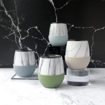美國 HYDY Delicia 大理石紋蛋型杯4入組