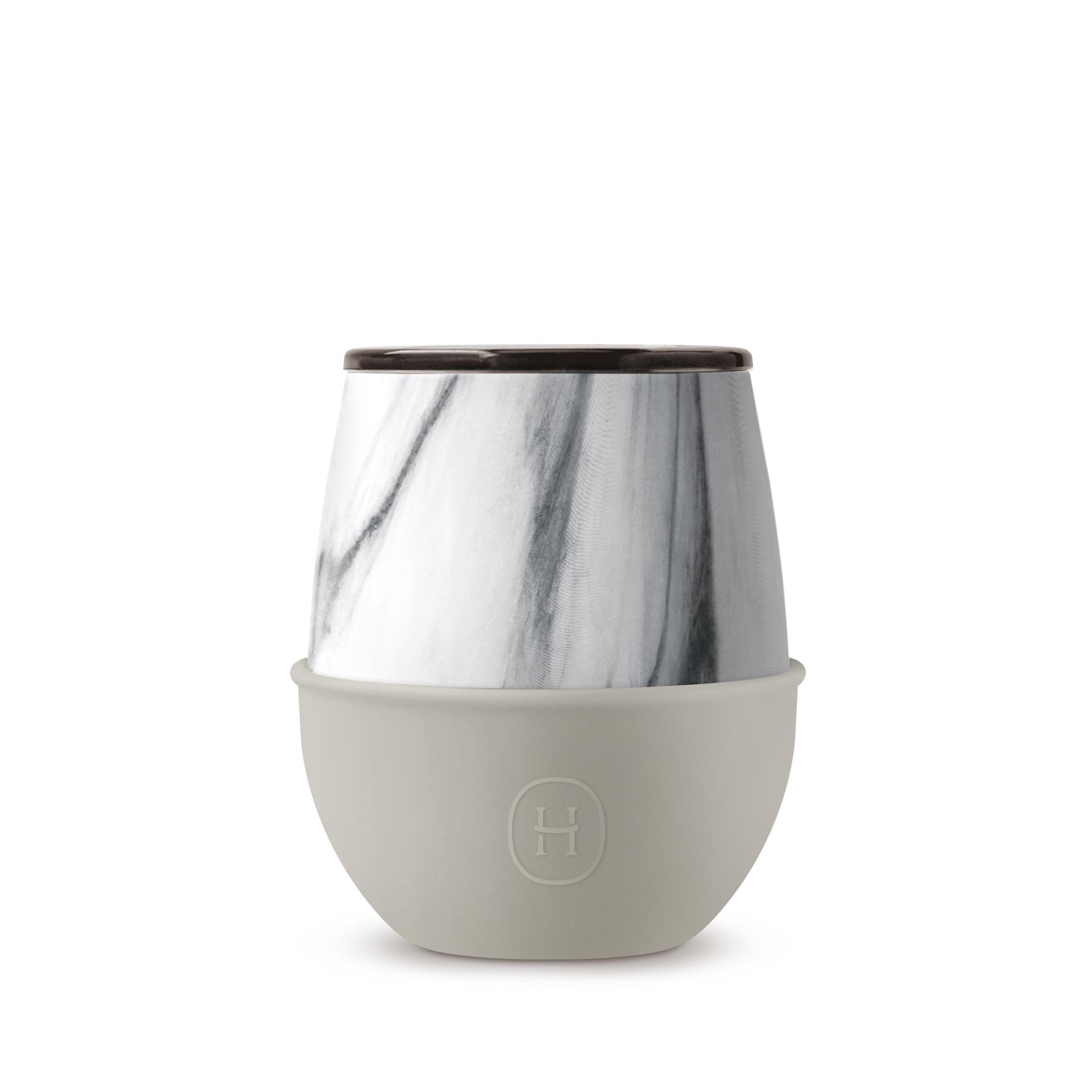 美國 HYDY Delicia 大理石紋雙層隨行保溫杯 蛋型杯 尤加利 240ml