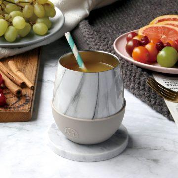 美國 HYDY Delicia 大理石紋蛋型杯 尤加利 240ml