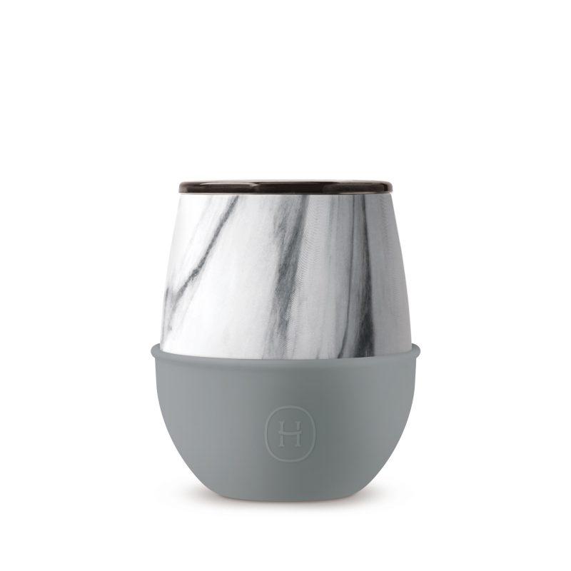 美國 HYDY Delicia 大理石紋雙層隨行保溫杯 蛋型杯 峽灣 240ml