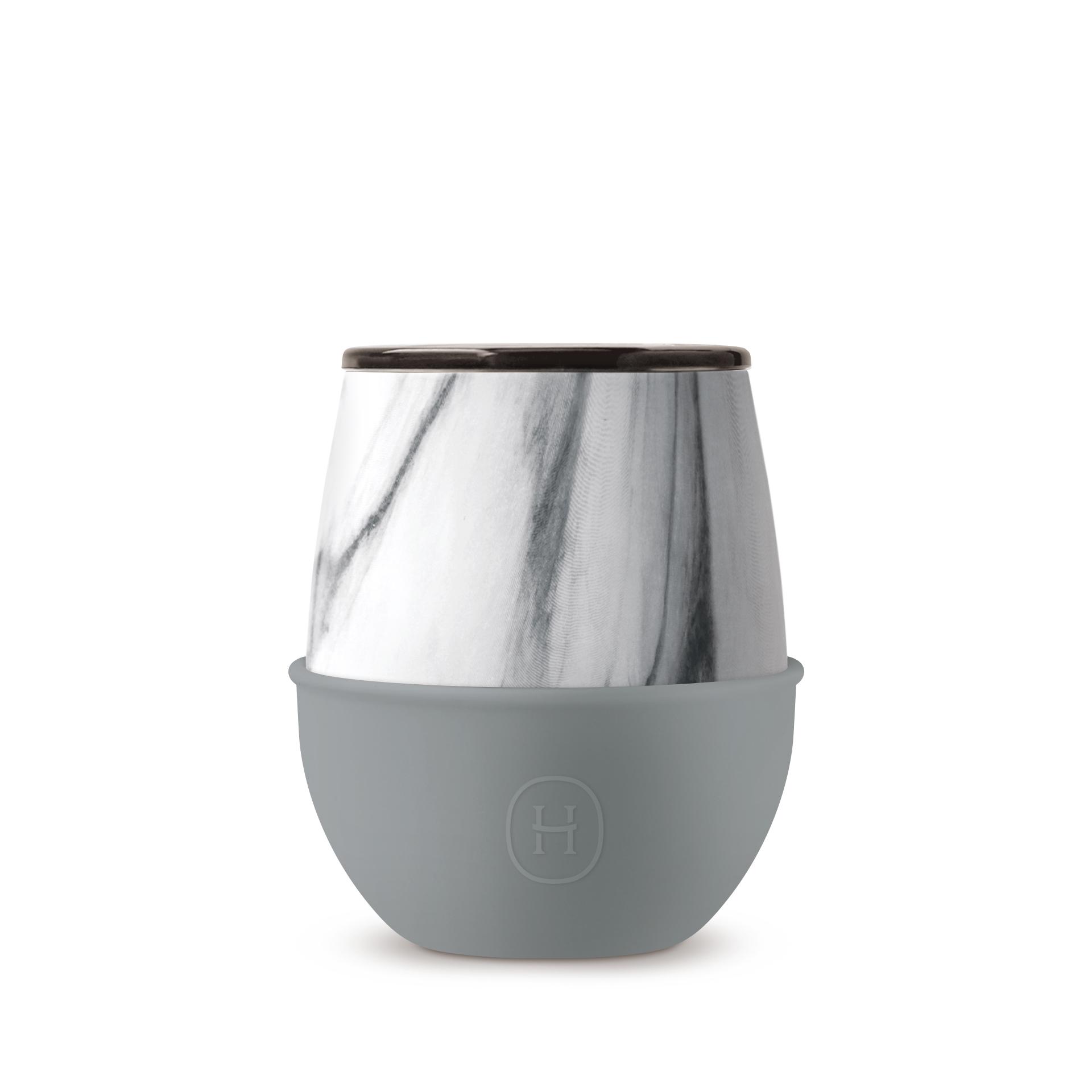 美國 HYDY Delicia 大理石紋蛋型杯 峽灣 240ml