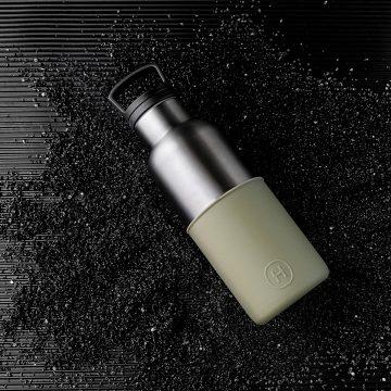 美國 HYDY 時尚不銹鋼保溫水瓶 480ml 鈦灰瓶 (軍綠)