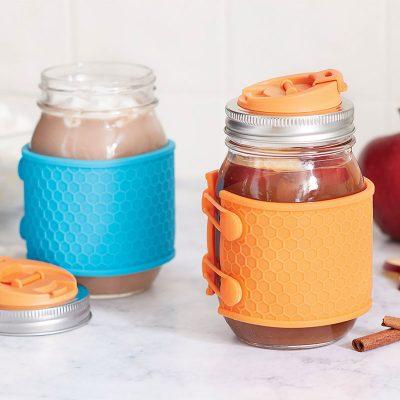 JARWARE 矽膠杯套 2入組 (藍/橘)