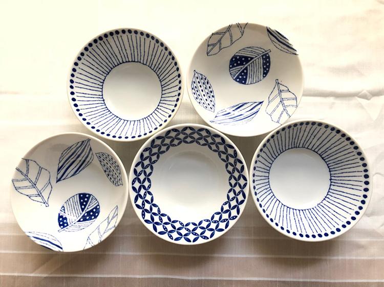 日本 美濃燒 十草 瓷碗2