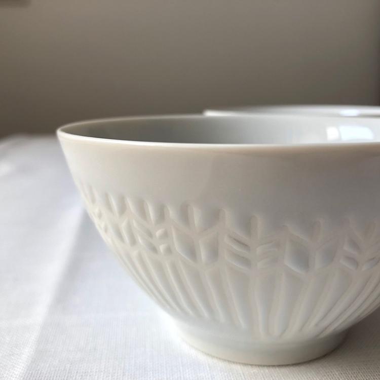 日本 美濃燒 箭羽紋 瓷碗