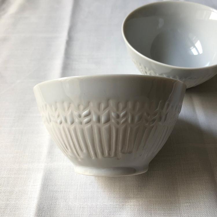 日本 美濃燒 箭羽紋 瓷碗2