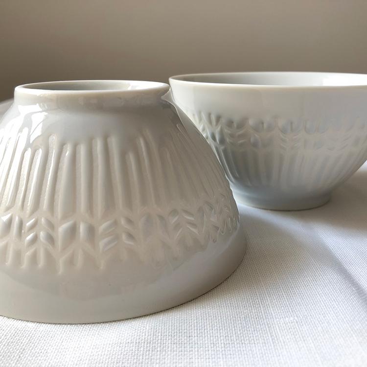日本 美濃燒 箭羽紋 瓷碗1