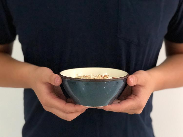 日本 美濃燒 湛藍陶碗