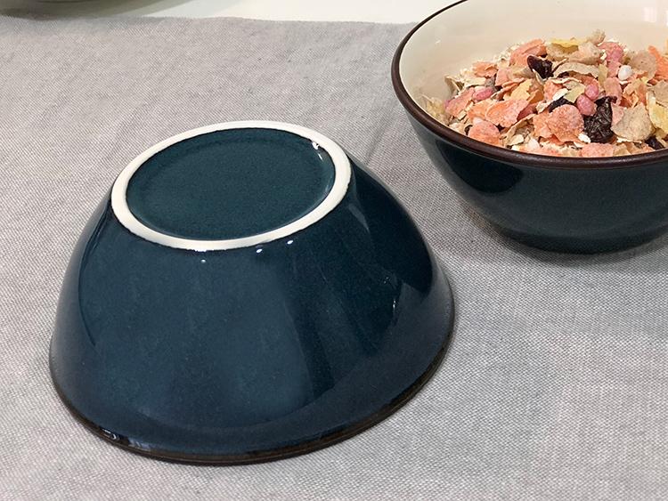 日本 美濃燒 湛藍陶碗 3