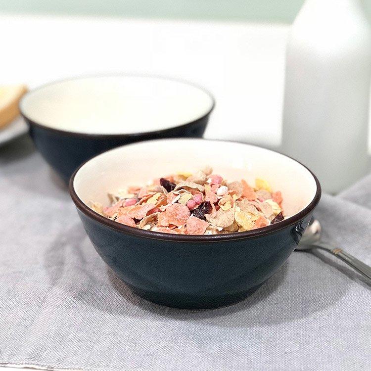 日本 美濃燒 湛藍陶碗 2