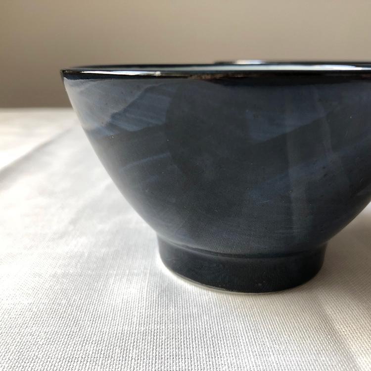 日本 美濃燒 藍紋瓷碗