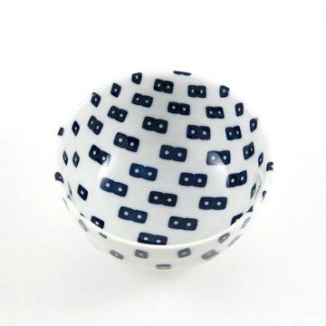 750_日本美濃焼北歐點點瓷碗-2
