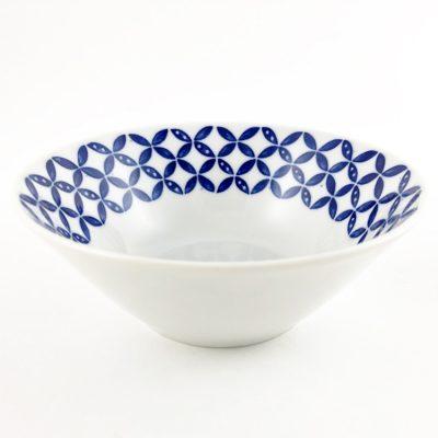 日本 美濃燒 藍花紋 瓷碗