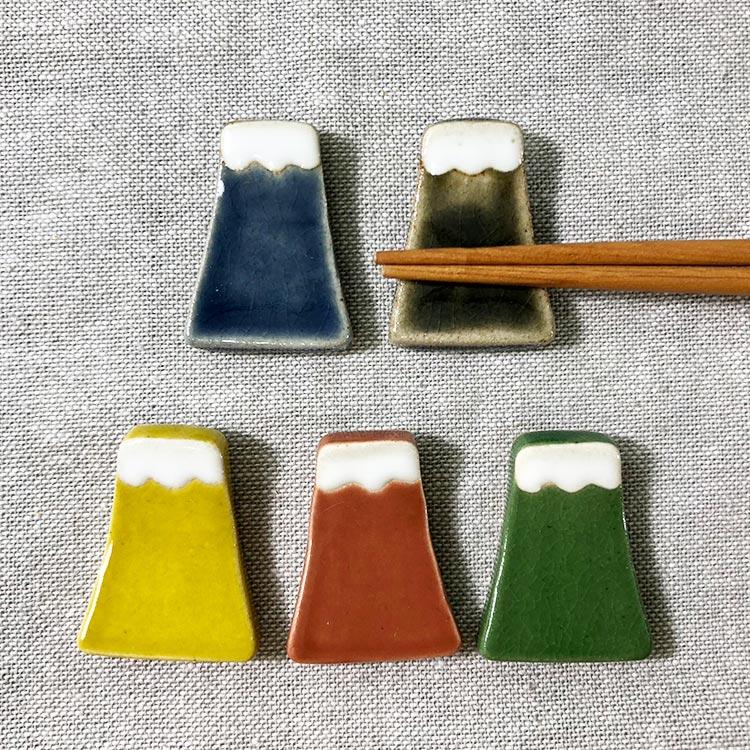 日本 美濃燒 手作富士山 筷架