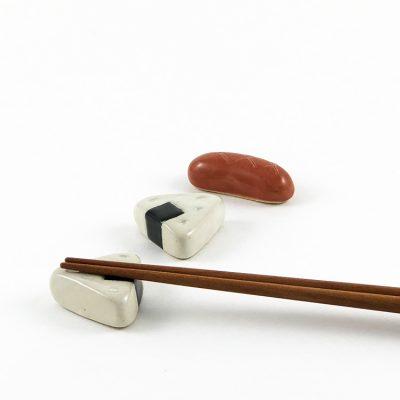 750_日本美濃焼陶製筷架熱狗飯糰組合01