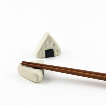 日本 美濃燒 陶製筷架 日式飯糰