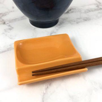 750_日本美濃燒多功能筷架橘01