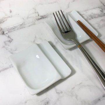 日本美濃燒兩用筷架-白