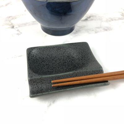750_日本美濃燒多功能筷架黑01