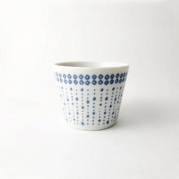 750_日本美濃燒藍點小草豬口杯01