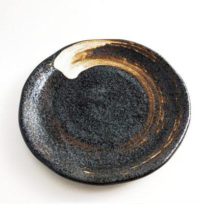 750_日本美濃燒黑釉圓盤02
