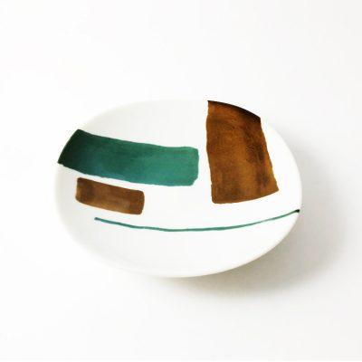 日本 美濃燒 akrel 圓盤-棕