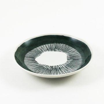 日本 美濃燒 comofuku 十草圓盤 -綠