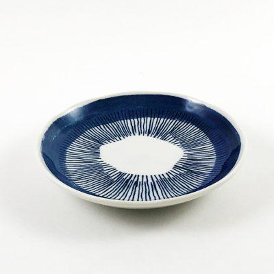 日本 美濃燒 comofuku 十草圓盤 -藍