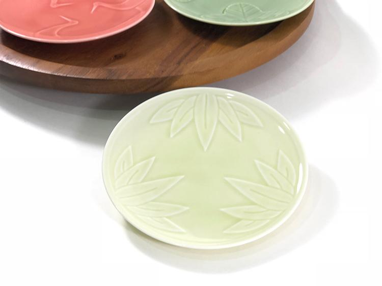日本美濃燒 engi 紋碟子-竹