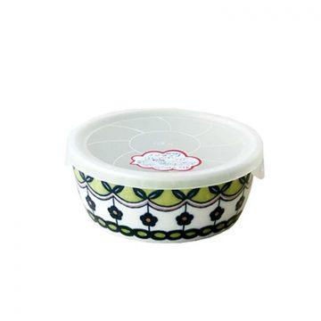 日本 Table Talk Presents 美濃燒 保鮮瓷碗-深綠