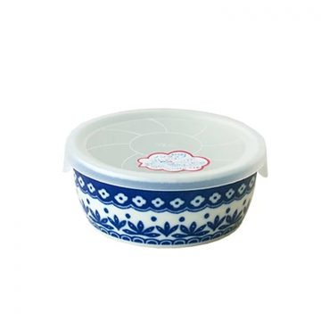 日本 Table Talk Presents 美濃燒 保鮮瓷碗-深藍