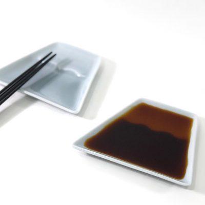 日本 美濃燒 富士山 醬料碟 小菜碟 -藍