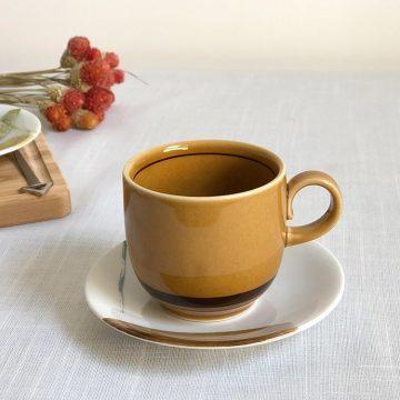 日本 美濃燒 陶作 馬克杯 -焦糖棕