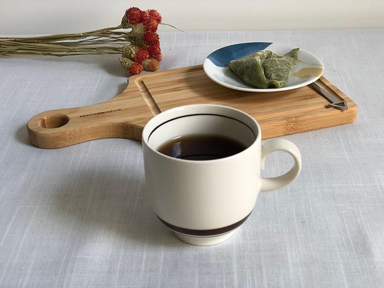 日本 美濃燒 陶作 馬克杯 -米色1