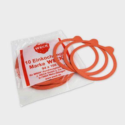 德國 WECK 玻璃罐 專用配件 橡膠密封圈 L 10入