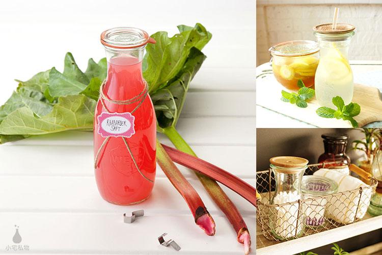 德國 WECK 764 玻璃密封罐 (含密封圈+扣夾) Juice Jar 530ml 單入