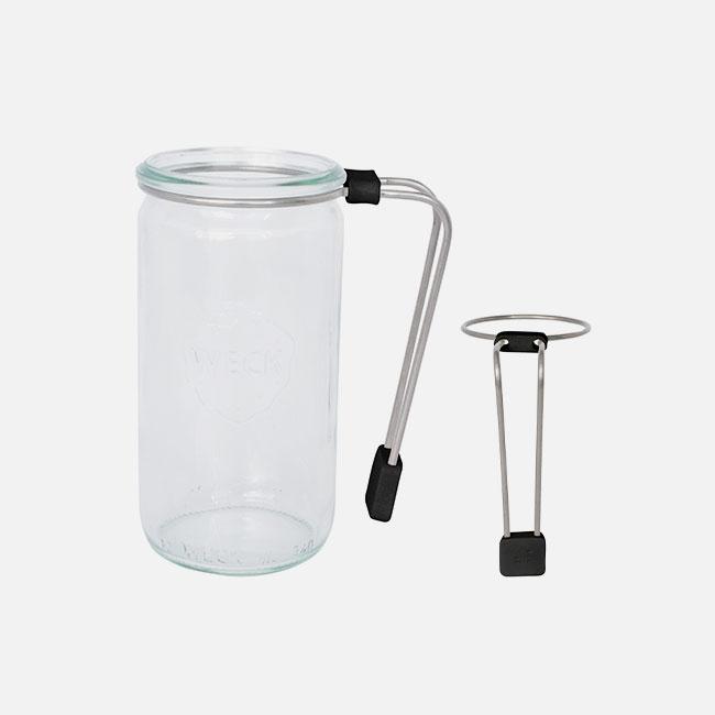 日本 WITH WECK 小口徑玻璃罐專用長握把 (紅)