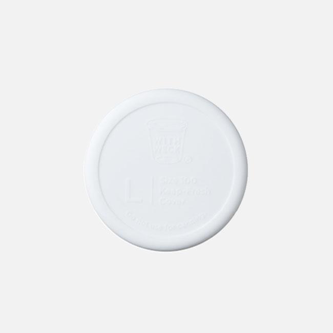 日本 WITH WECK 矽膠蓋 L (白)