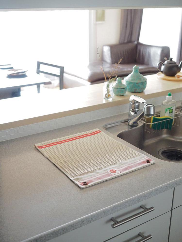日本 WITH WECK 銀離子抗菌廚用吸水布 (米白)
