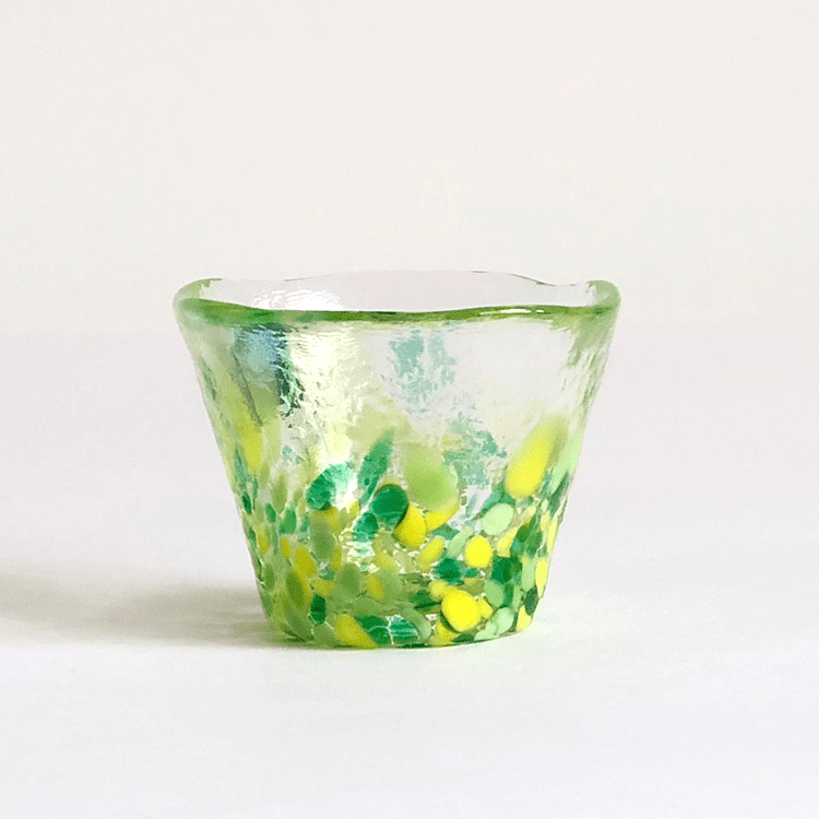 日本 津輕 手工玻璃杯 (山若葉) 50ml