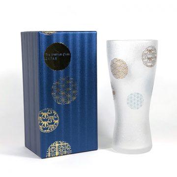 日本 石塚哨子 霧面 丸紋 玻璃杯 啤酒杯 單入禮盒